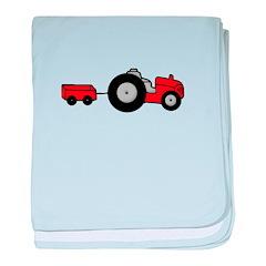 Tractor Design baby blanket