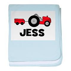 Tractor Jess baby blanket