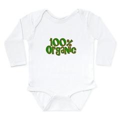 100% Organic Long Sleeve Infant Bodysuit