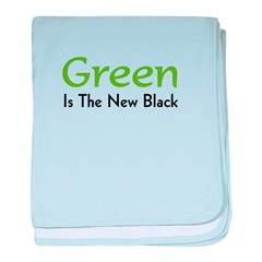 Green Is The New Black baby blanket