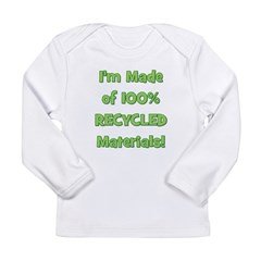 Made of 100% Recycled (green) Long Sleeve Infant T