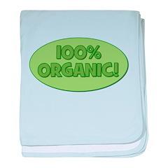 100% Organic (green) baby blanket