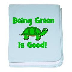 Being Green Is Good! -Turtle baby blanket