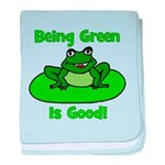 Being Green Frog baby blanket