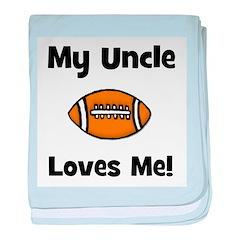 My Uncle Loves Me - Football baby blanket