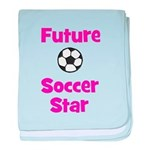 Future Soccer Star (pink) baby blanket