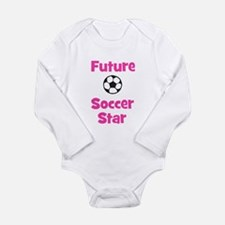 Future Soccer Star (pink) Long Sleeve Infant Bodys