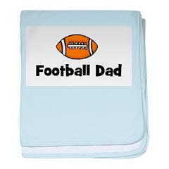 Football Dad baby blanket