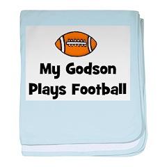 My Godson Plays Football baby blanket