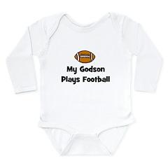 My Godson Plays Football Long Sleeve Infant Bodysu