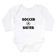 Soccer Sister Long Sleeve Infant Bodysuit