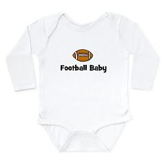 Football Baby Long Sleeve Infant Bodysuit