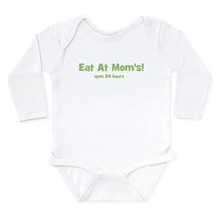 Eat At Mom's! Long Sleeve Infant Bodysuit