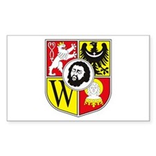 Wroclaw Coat of Arms Rectangle Stickers