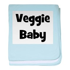 Veggie Baby Black baby blanket