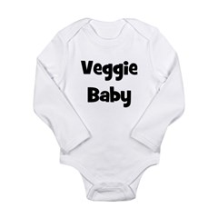 Veggie Baby Black Long Sleeve Infant Bodysuit
