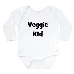 Veggie Kid - Black Long Sleeve Infant Bodysuit
