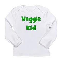 Veggie Kid - Green Long Sleeve Infant T-Shirt