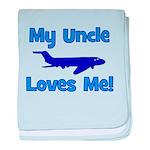 My Uncle Loves Me! PLANE baby blanket
