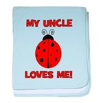 My Uncle Loves Me! LADYBUG baby blanket