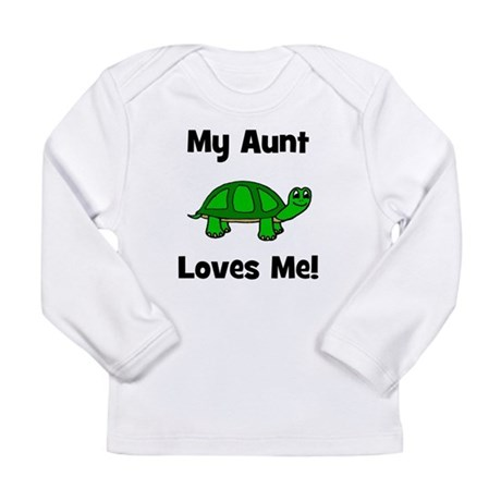 My Aunt Loves Me! Turtle Long Sleeve Infant T-Shir