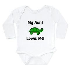 My Aunt Loves Me! Turtle Long Sleeve Infant Bodysu