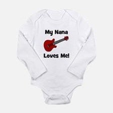 My Nana Loves Me! w/guitar Long Sleeve Infant Body