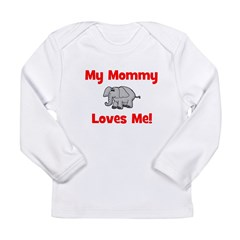 My Mommy Loves Me! w/elephant Long Sleeve Infant T