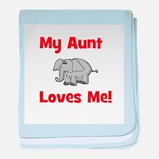 My Aunt Loves Me! w/elephant baby blanket