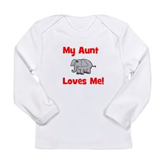 My Aunt Loves Me! w/elephant Long Sleeve Infant T-
