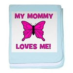 Butterfly - My Mommy Loves Me baby blanket