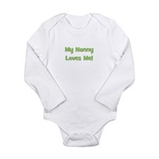 My Nanny Loves Me! Long Sleeve Infant Bodysuit