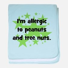 I am allergic to Peanuts & Tr baby blanket