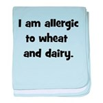 Allergic to Wheat & Dairy - B baby blanket