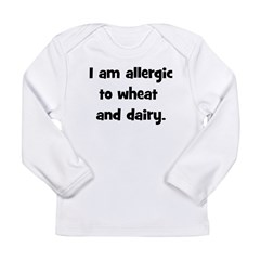 Allergic to Wheat & Dairy - B Long Sleeve Infa