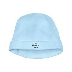 Allergic to Dairy - Black baby hat