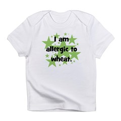 Allergic to Wheat - stars Infant T-Shirt