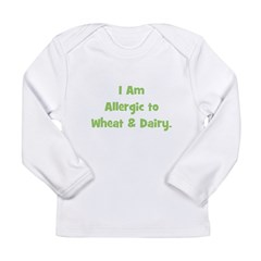 Allergic to Wheat & Dairy Long Sleeve Infant T