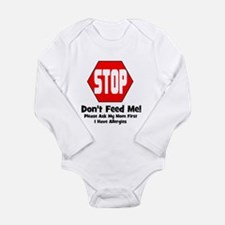 Don't Feed Me - Allergies Long Sleeve Infant Bodys