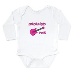Autistic Kids Rock! Pink Guit Long Sleeve Infant B