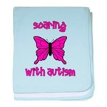 Soaring with Autism! Butterfl baby blanket