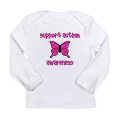 Support Autism Awareness Butt Long Sleeve Infant T
