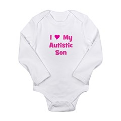 I Love My Autistic Son Long Sleeve Infant Bodysuit