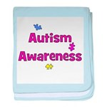 Autism Awareness (pink) baby blanket