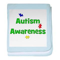 Autism Awareness (green) baby blanket