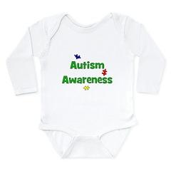 Autism Awareness (green) Long Sleeve Infant Bodysu