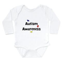 Autism Awareness (black) Long Sleeve Infant Bodysu