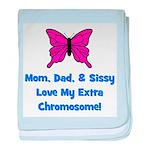 Mom, Dad, & Sissy - Extra Chr baby blanket