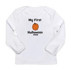 My First Halloween 2008 Pumpk Long Sleeve Infant T