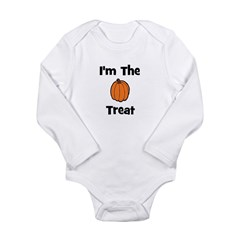 I'm The Treat (pumpkin) Long Sleeve Infant Bodysui